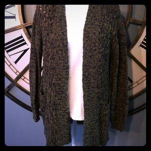 BP Marled Olive/Black Sweater Cardigan